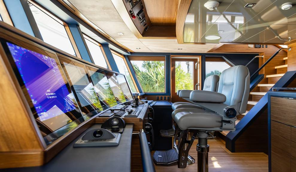 Northland interior pilot house